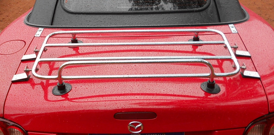 Mazda Miata removable car trunk luggage rack