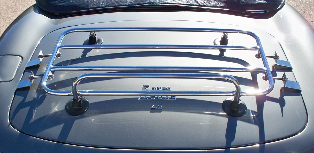 Jaguar removable car trunk luggage rack