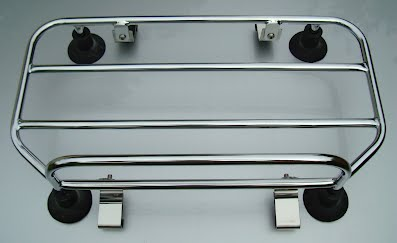 Removable VW Beetle car trunk luggage rack